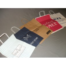 Kraft Paper Bag with Twisted Paper Handle (Printed 1 Colour)